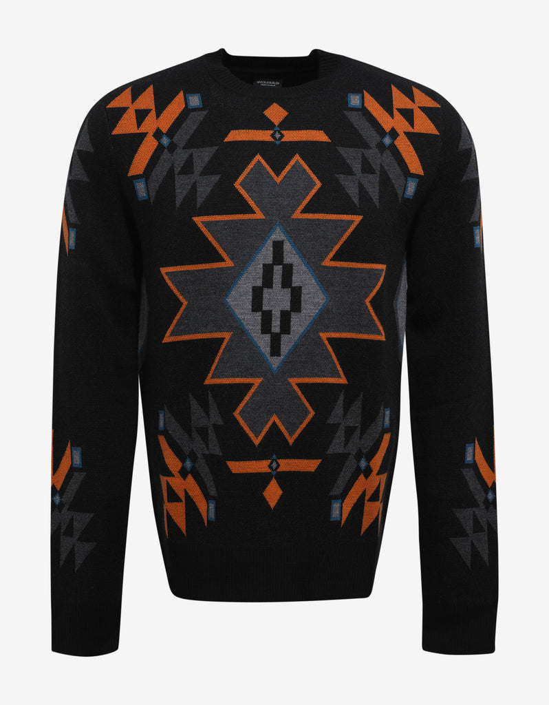 Chapelco Black Symbols Graphic Sweater