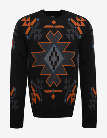 Marcelo Burlon Chapelco Black Symbols Graphic Sweater