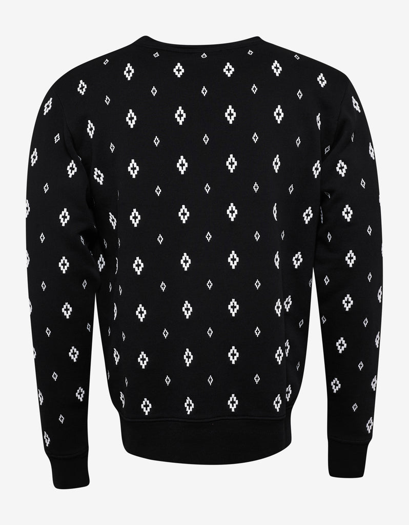 Cross Embroidery Black Sweatshirt