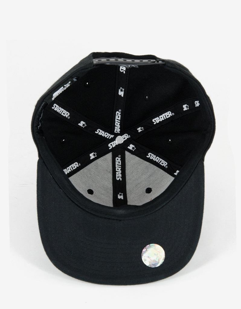 Cruz Black Cap with Tonal Logo Embroidery