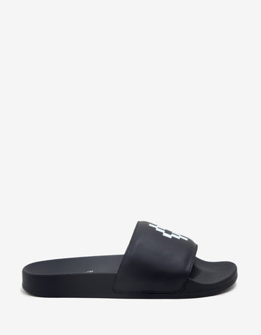 Marcelo Burlon Giulia Black Slide Sandals