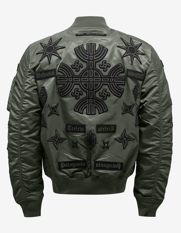 Marcelo Burlon Roldan Alpha MA-1 Flight Jacket with Badges
