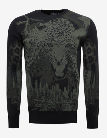 Marcelo Burlon Sulupe Tiger Graphic Wool Sweater