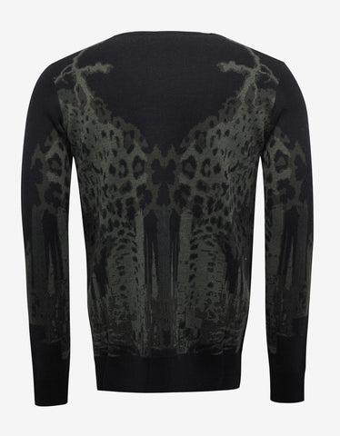 Marcelo Burlon Sulupe Leopard Graphic Wool Sweater