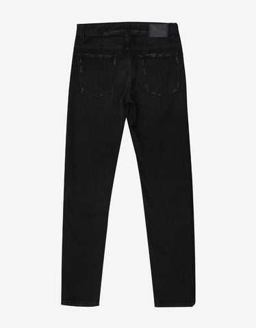 Marcelo Burlon Hor Black Tiger Patch Slim Jeans