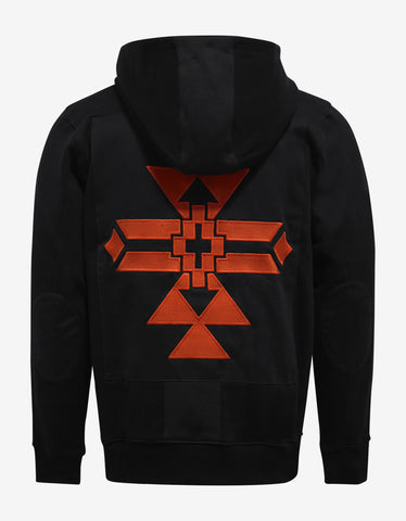 Marcelo Burlon Isluga Lace Neck Hooded Sweatshirt