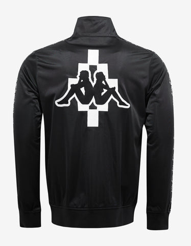 Marcelo Burlon Kappa Black Funnel Neck Zip Sweatshirt