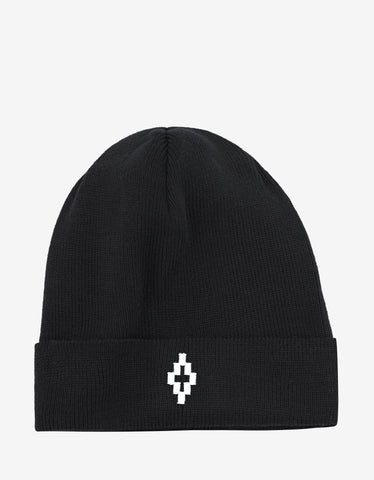 Marcelo Burlon Cruz Black Beanie Hat