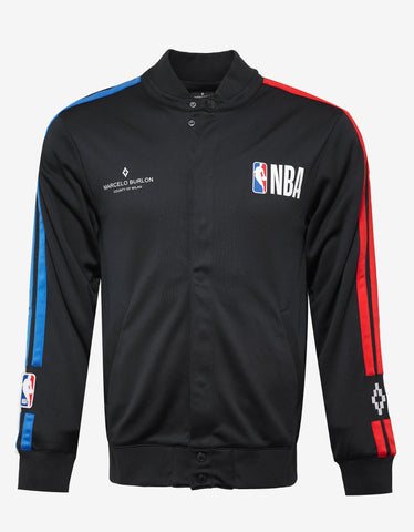 Marcelo Burlon NBA Print Black Track Jacket