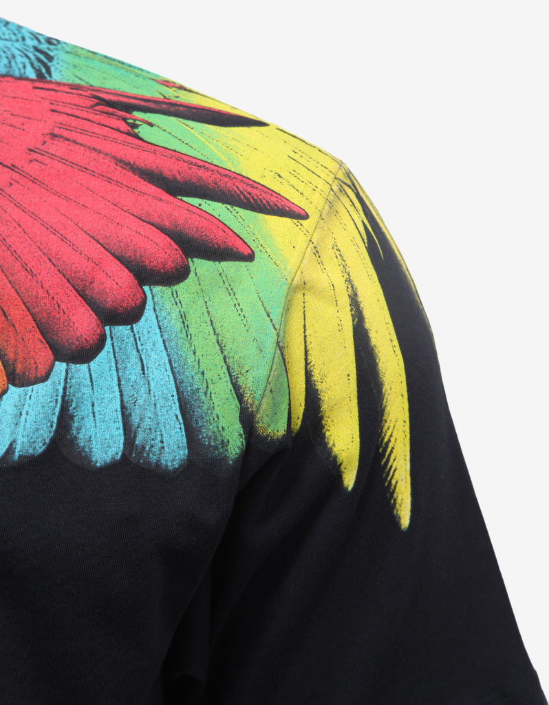Nicolas Black Wings Print T-Shirt