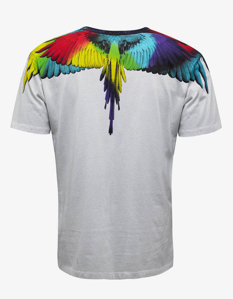 Nicolas White Wings Print T-Shirt