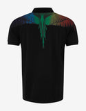 Rainbow Wing Black Polo T-Shirt