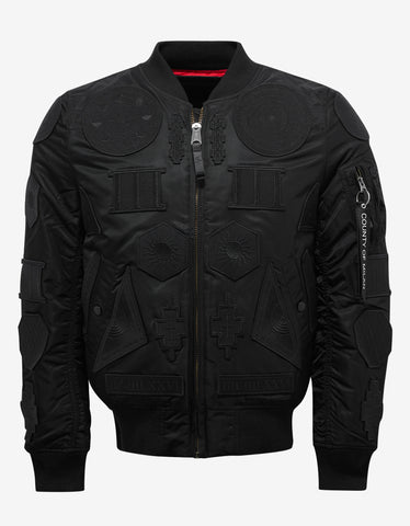 Marcelo Burlon Rayen Alpha MA-1 Flight Jacket