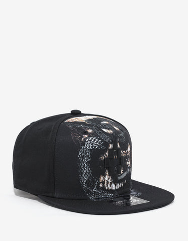 Marcelo Burlon Bayo Black Graphic Print Cap