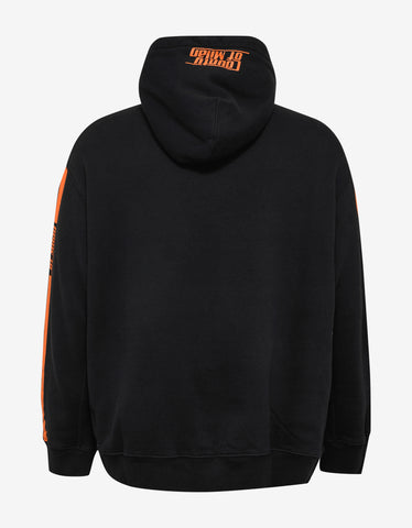 Marcelo Burlon Stripes County Print Black Hoodie