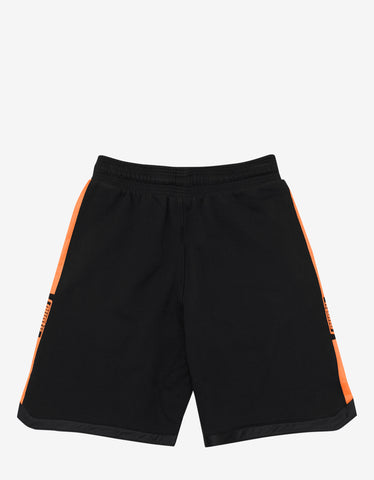 Marcelo Burlon Stripes County Print Black Sweat Shorts