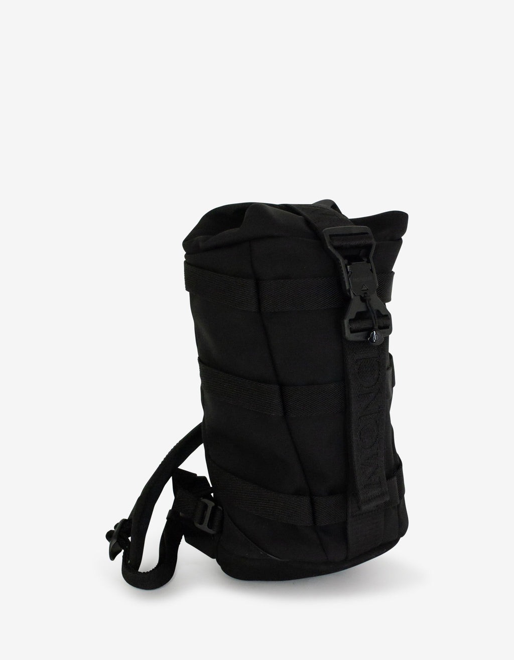 Argens Black Nylon Sling Backpack