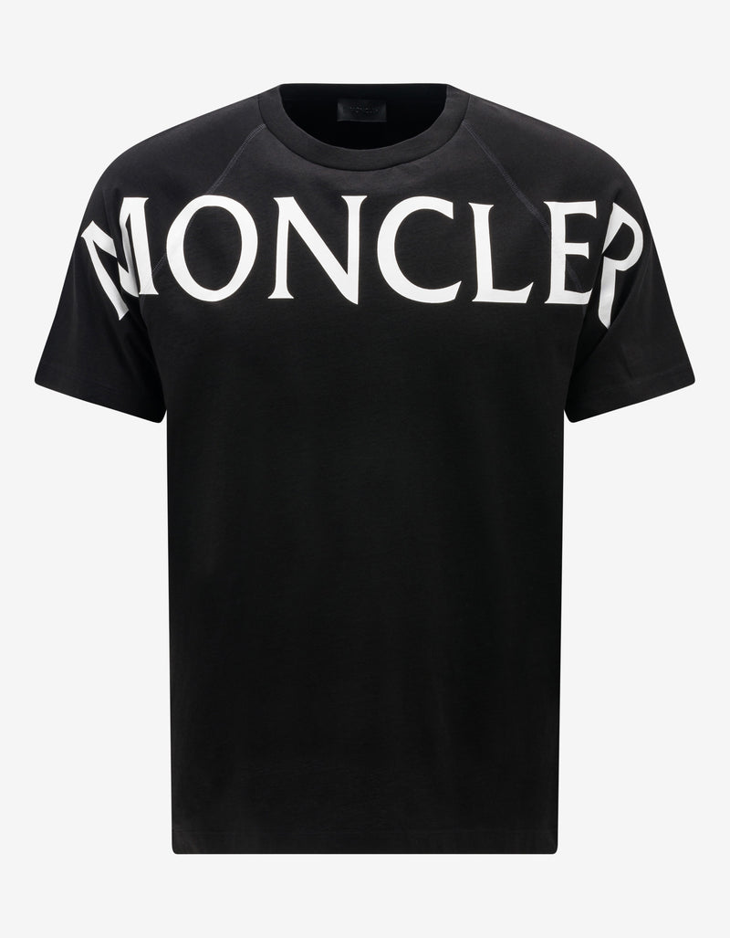 Black Chest Logo Print T-Shirt