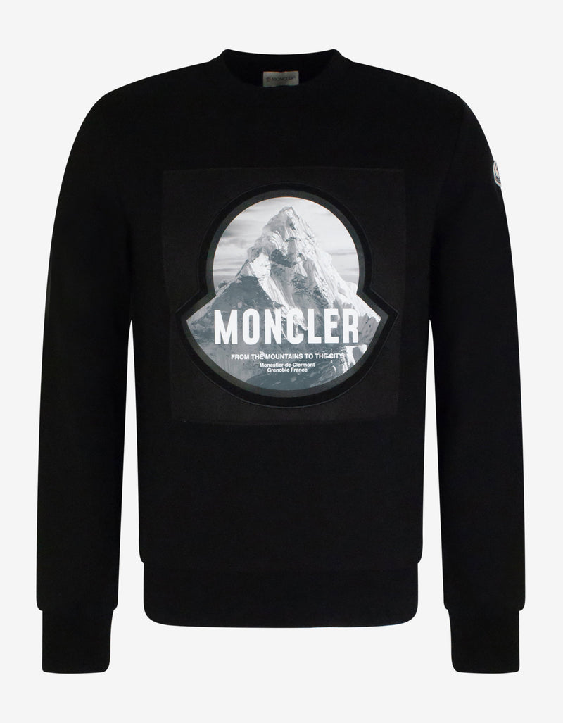 Black Mountain Print Logo Sweatshirt