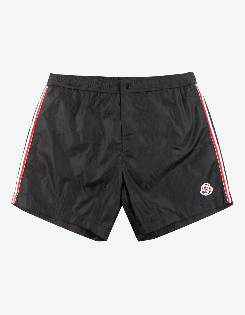 Black Tricolour Seam Swim Shorts