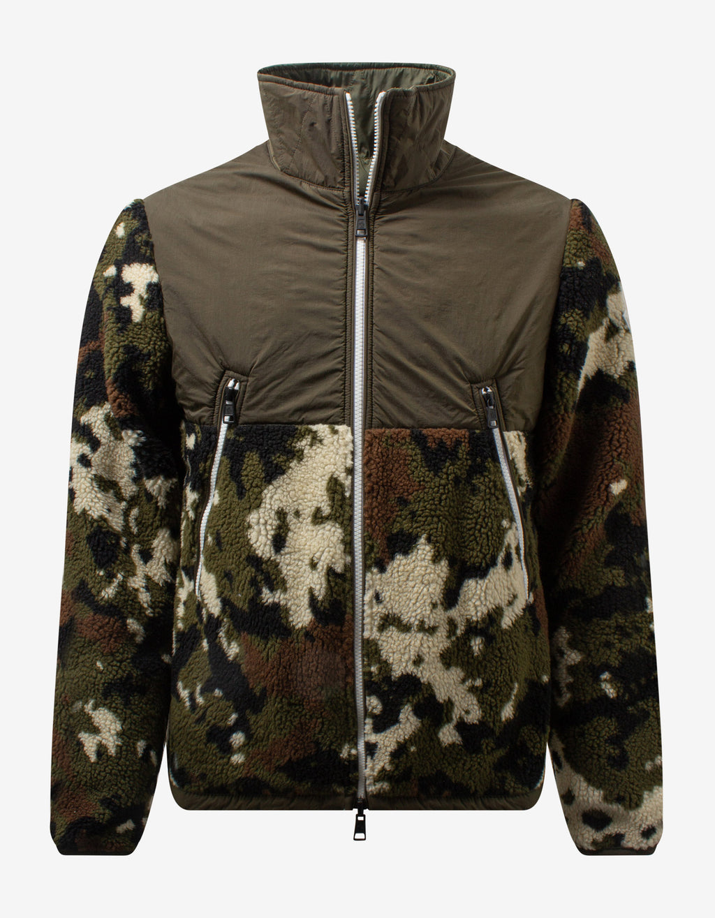 Camouflage Fleece Reversible Cardigan