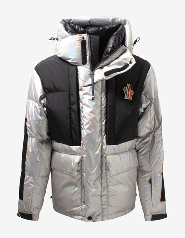 Jehan All-Over Logo Print Nylon Down Jacket