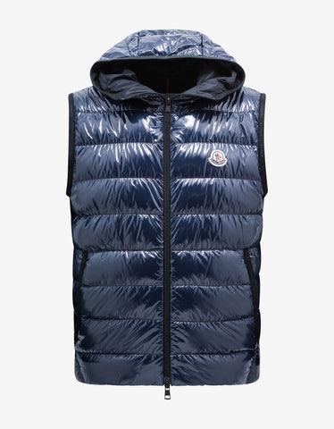 Gordes Grey Nylon Down Gilet