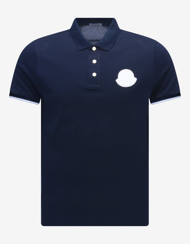Blue Tricolour Trim Polo T-Shirt