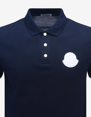 Navy Blue Logo Patch Polo T-Shirt