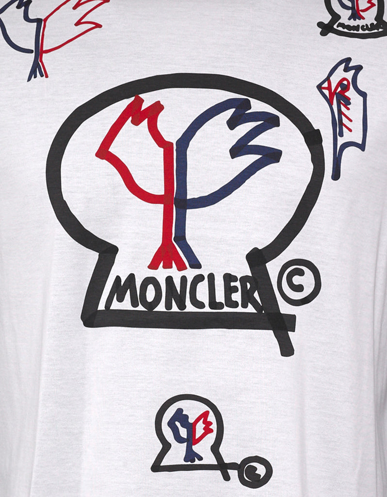 White Rooster Logo Print T-Shirt
