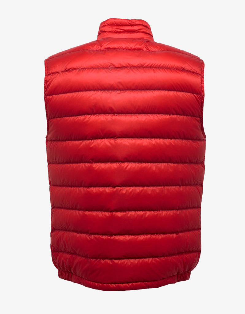 Achille Red Nylon Down Gilet