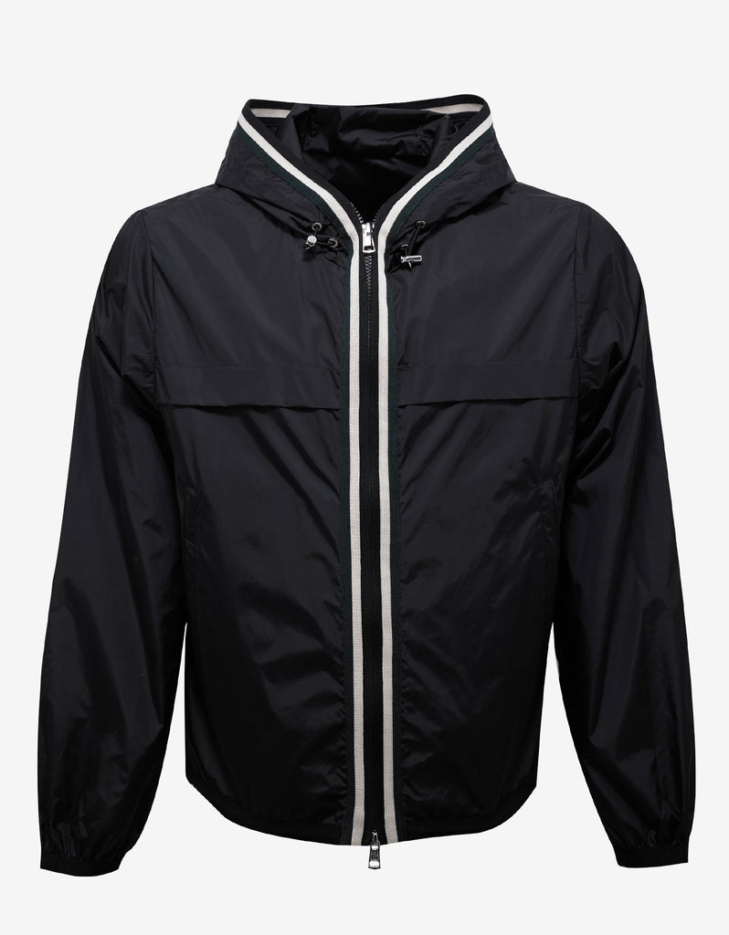Anton Black Nylon Windbreaker