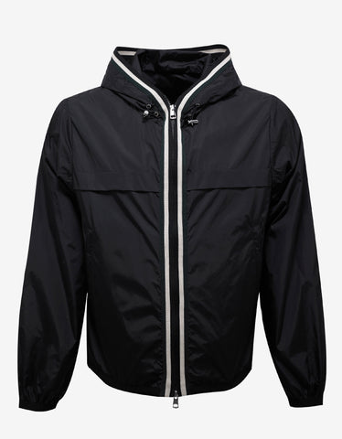 Moncler Anton Black Nylon Windbreaker