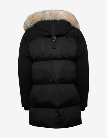 Moncler Aurelien Black Fur Trim Down Parka