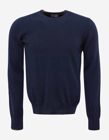 Moncler Blue Wool Sweater