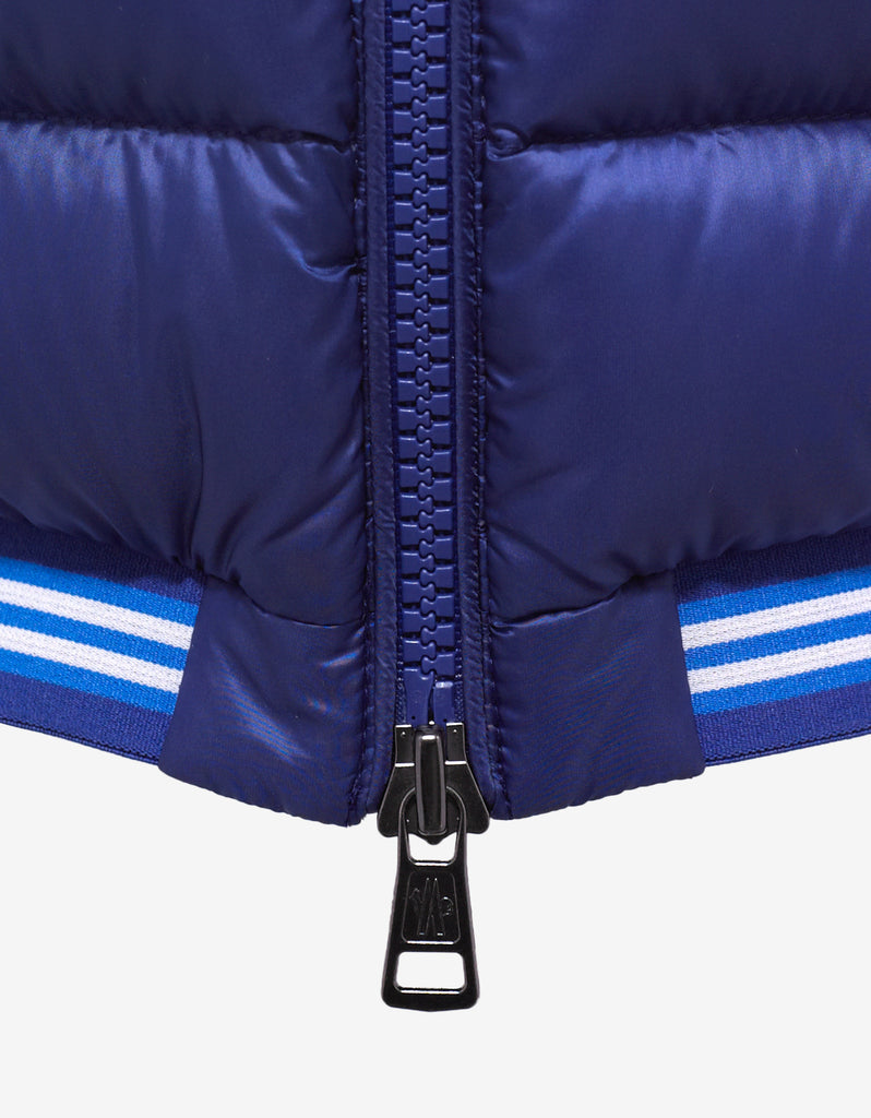 Amiens Blue Nylon Down Gilet