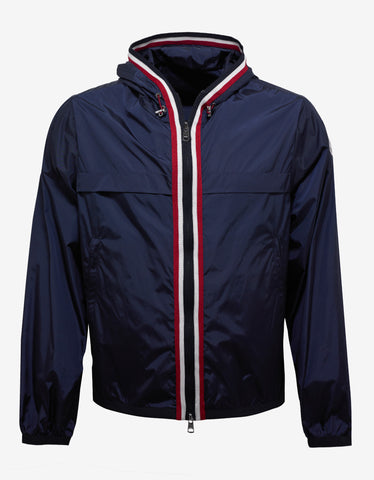Moncler Anton Navy Blue Nylon Windbreaker