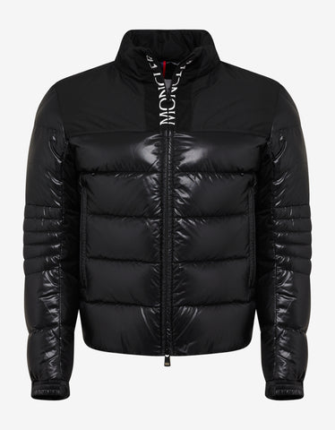 Moncler Bruel Black Nylon Down Jacket