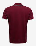 Burgundy Tricolour Polo T-Shirt