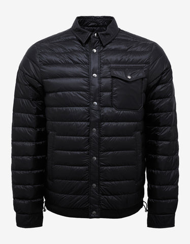 Moncler Christopher Black Nylon Down Jacket