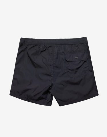 Moncler Dark Blue Logo Tricolour Swim Shorts