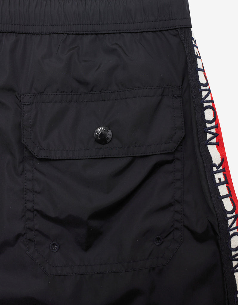 Dark Blue Logo Tricolour Swim Shorts