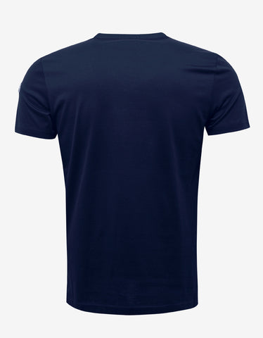 Moncler Navy Blue Tricolour Trim T-Shirt