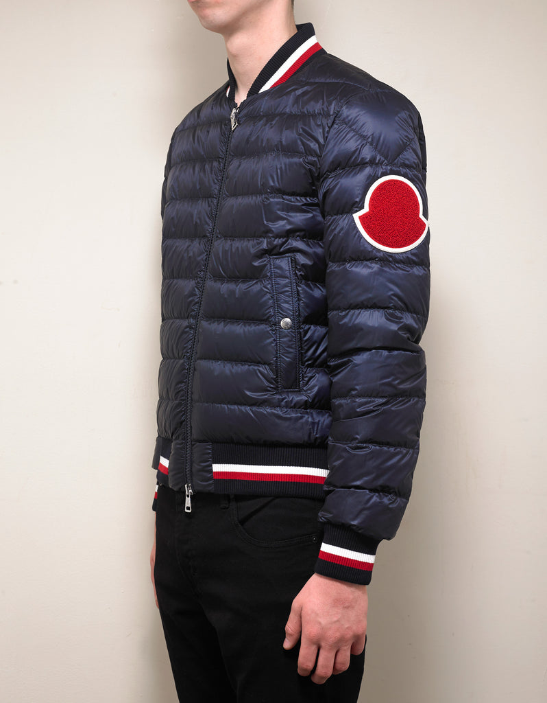 615cb1c24 Deltour Navy Blue Down Bomber Jacket