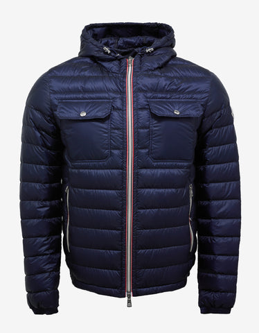 Moncler Douret Blue Nylon Down Jacket
