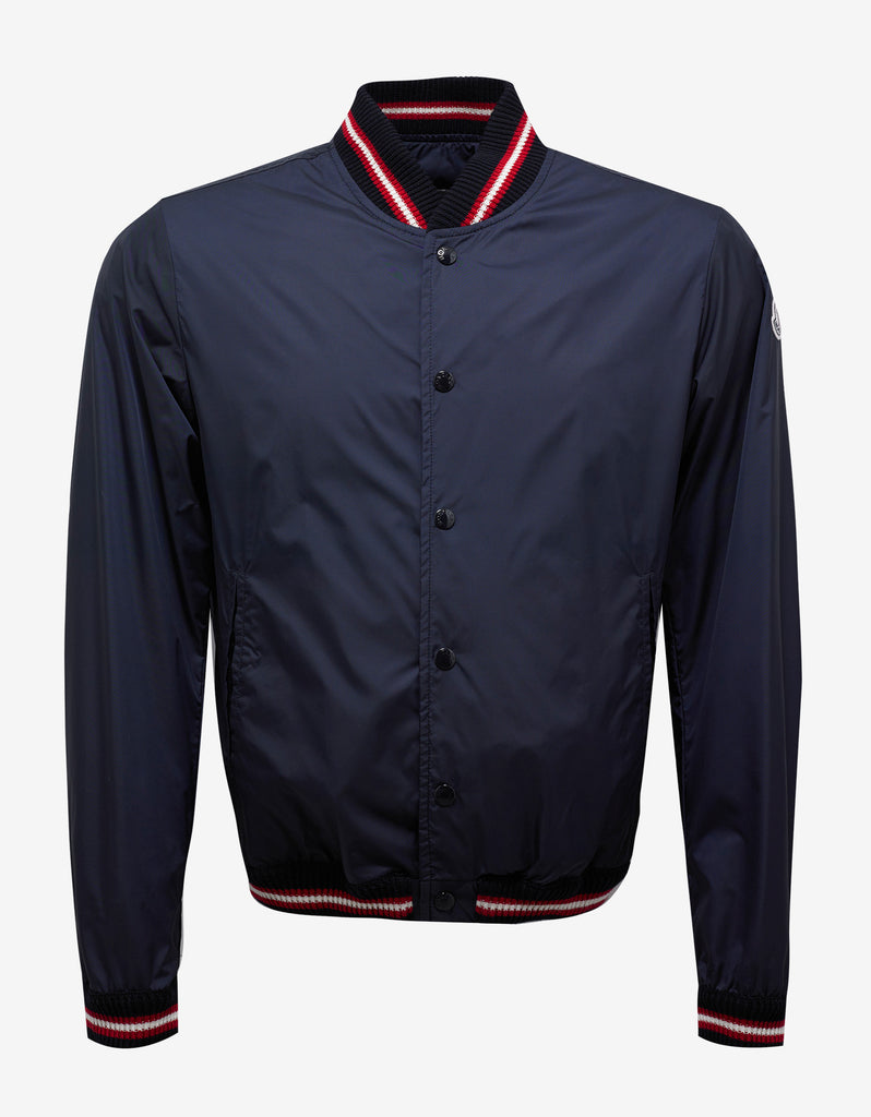 Dubost Navy Blue Bomber Jacket