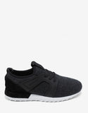 Emilien Grey Wool Flannel Running Trainers