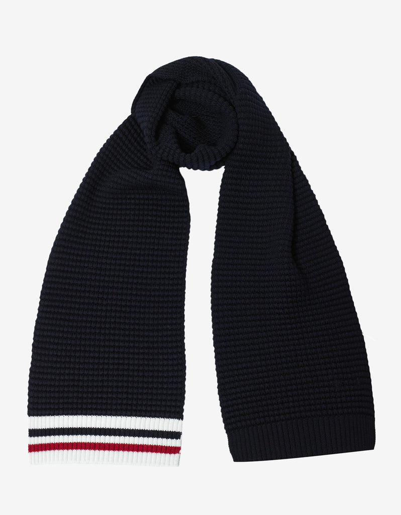 Navy Blue Wool Scarf