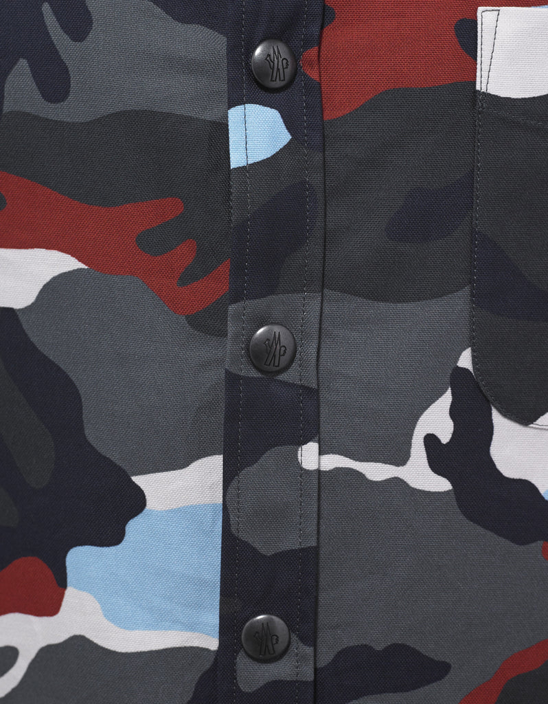 Camouflage Graphic Print Shirt