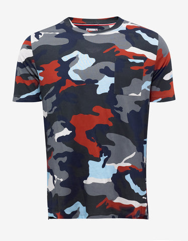 Moncler Gamme Bleu Camouflage Graphic Print T-Shirt